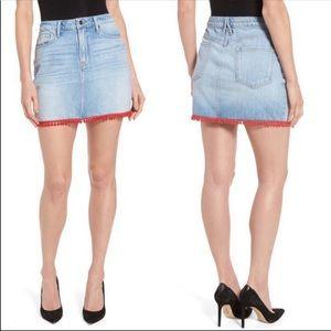 Good American | Denim Pom Pom Skirt